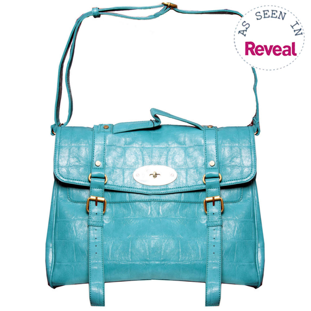 Blue Crocodile Skin Satchel Preview